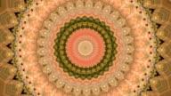 Sparkling retro circle kaleidoscopic pattern. video