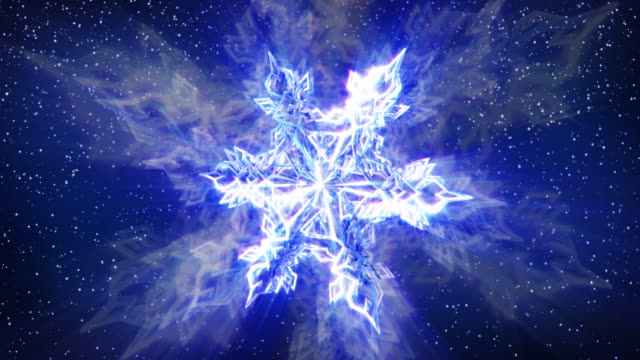Sparkling Snowflake and Falling Snow video