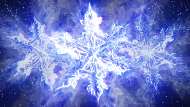 Sparkling Snowflakes and Falling Snow video