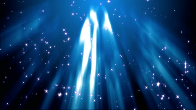 sparkling stars in the rays of light (loop) video