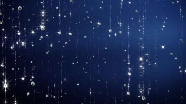 Sparkly Falling Diamonds Background video