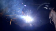 Sparks Flying From Welding Torch video