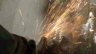 Sparks from the metal video