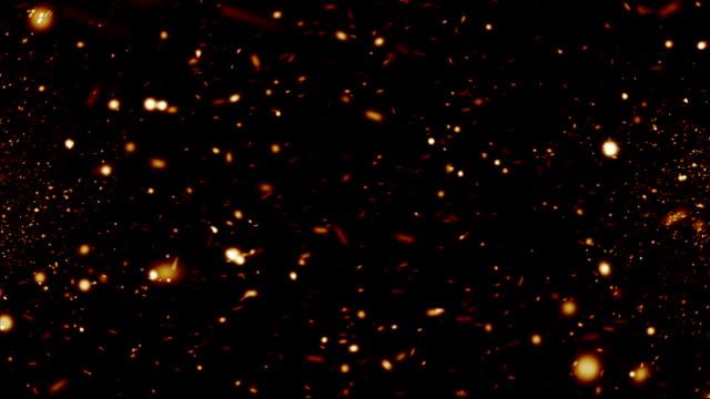Sparks on black background video