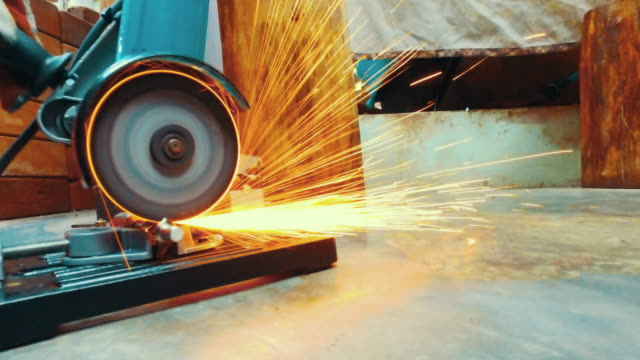 Sparks while grinding video