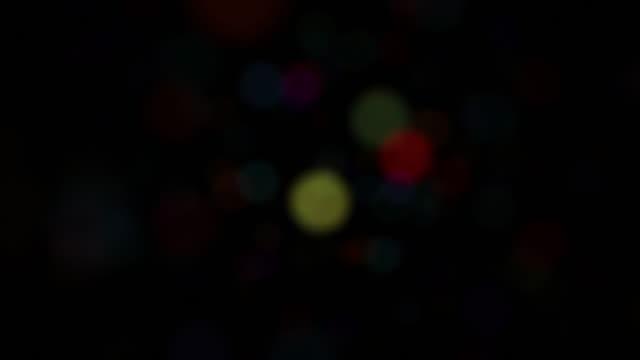 Sparse Multi Color Defocused Bokeh Background Loop video