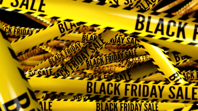 Special offer, sale, hot prices. Captions on police tape. video