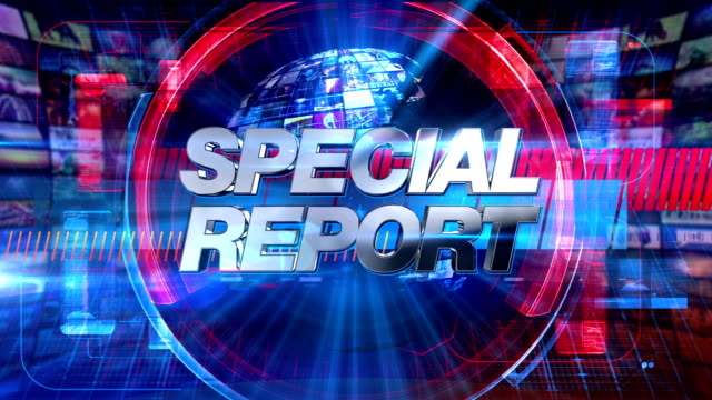 Special Report - Broadcast Graphics Title Animation HD video