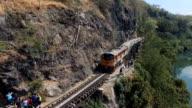 Special trains the Death Railway & River Kwai in Kanchanaburi, Thailand video