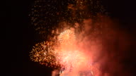 Spectacular colorful firework display video