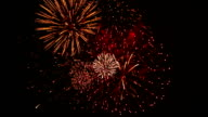 Spectacular Fireworks with Cheering Crowd Audio video