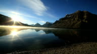 Spectacular lake and mountain scenery at Bow lake video