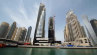 Spectacular skyscrapers around the canal in Dubai video