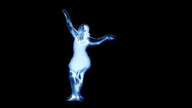 Spectral ballet dancer video