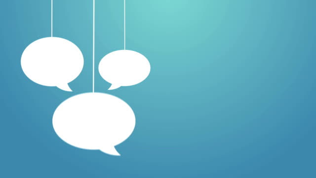 Speech bubbles hanging on a wire video