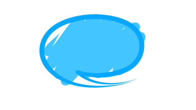 Speech or chat bubbles video