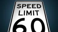 Speed Limits 40MPH 50MPH 60MPH 70MPH Photo Enforced Animation Set video