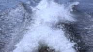 Speedboat wake video