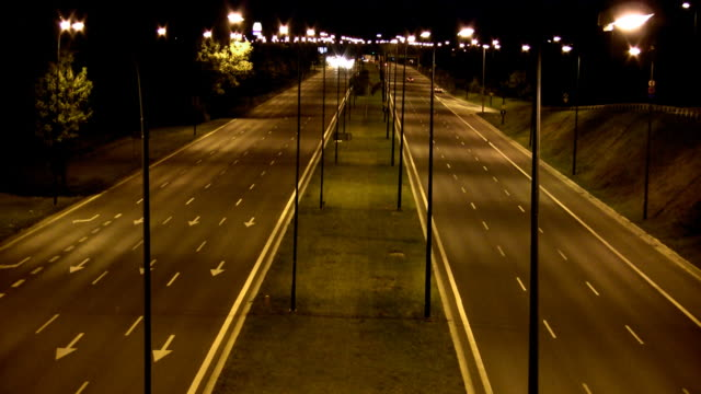 Speeding at night - time lapse video