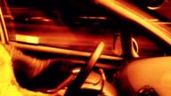 Speeding driver at night video
