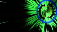 speeding up in  green tunnel background video
