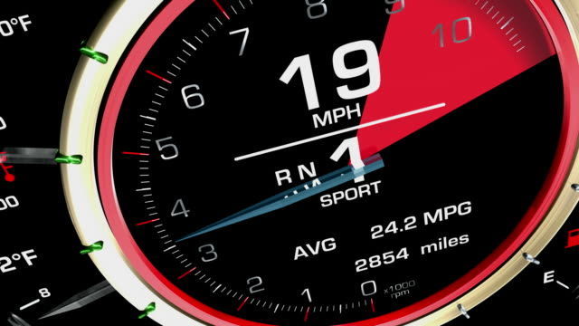 Speedometer Accelerating Fly Cam HD video
