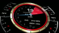 Speedometer Acceleration and Shift Gears HD video