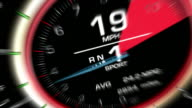 Speedometer Acceleration with Motion Blur HD video