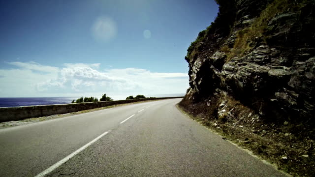 Speedy Car Onboard Camera on Road in Corsica video
