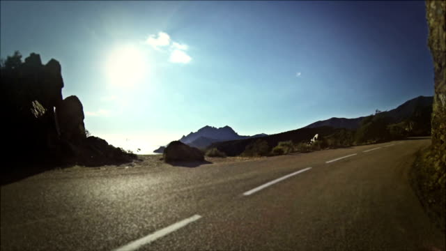 Speedy Rally Car Onboard Camera on Road in Corsica video