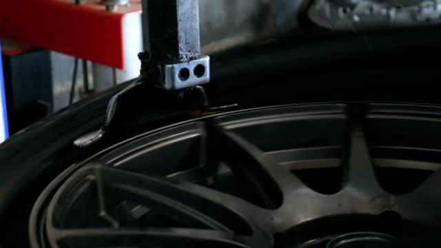 Sperating Machine working in Tyre Repair Shop video