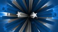 Sphere of Blue 3D Stars video
