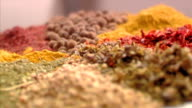 Spices close up video