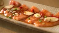 spicy sliced salmon video