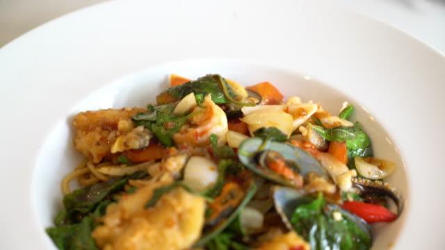 spicy spaghetti seafood video