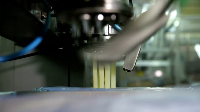Spill in The Production Butter on The Assembly Line video