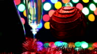 spilling a glass of champagne, Christmas holidays video
