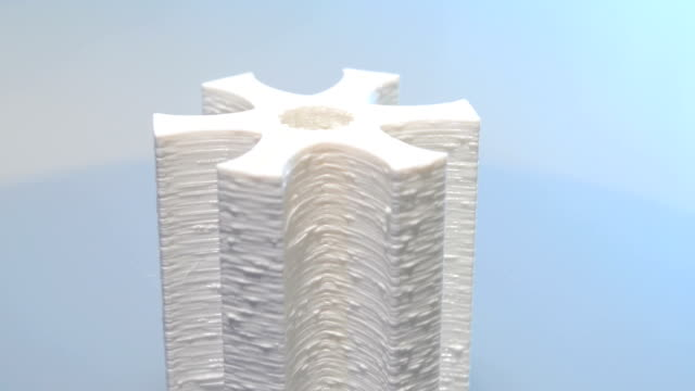 Spinning 3D Print model video