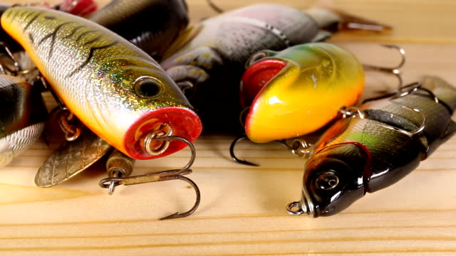 Spinning bait for fishing. video