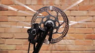 Spinning Bicycle Wheel Loop video