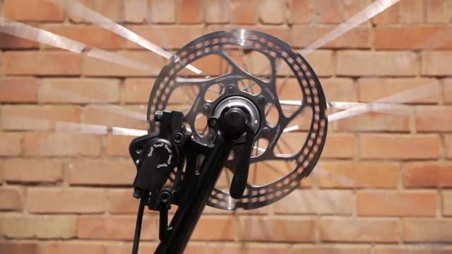 Spinning Bicycle Wheel Loop video