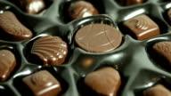 Spinning box of Chocolates. HD. video