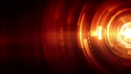 Spinning Circles Background Loop - Fiery Red (Full HD) video