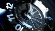 3D Spinning Clock Face Seamless Loop video