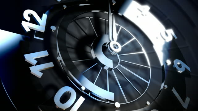3D Spinning Clock Face Seamless Loop video
