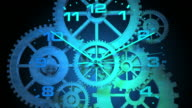3D Spinning Clock Face with Gears video