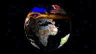 HD Spinning Currency Globe video