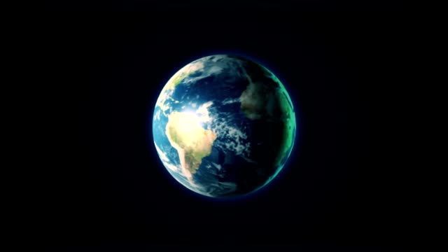 Spinning Earth video