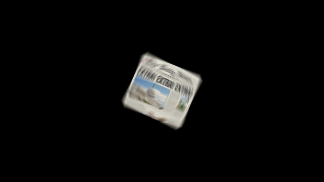 Spinning News Paper video