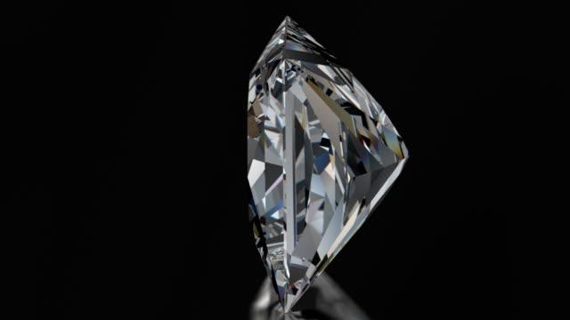 Spinning PRINCESS Cut Diamond with Sparkles video